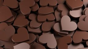 Milchschokoladeherzen Stockbild