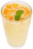 Milchshake vom Pfirsichjoghurt Lizenzfreies Stockbild