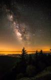 Milchstraße über blauen Ridge Mountains Lizenzfreie Stockfotografie