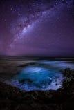 Milchstraße über dem südlichen Ozean australien Stockbilder