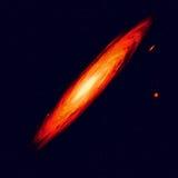 Milchstraße (abstrakte Seitenansicht der gewundenen Galaxie) Stockbilder