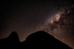 Milchstraße auf einer Frühlings-Nacht Stockbild