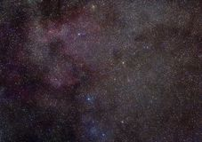 Milchstraße in der Cassiopeiakonstellation Lizenzfreies Stockbild