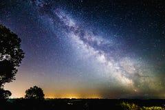 Milchstraße-Galaxie über Süd-Somerset in Großbritannien Lizenzfreie Stockfotografie