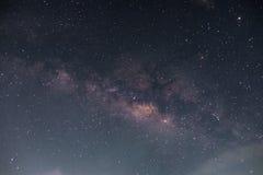 Milchstraße, lange Belichtungsweichzeichnung Stockfotos