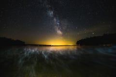 Milchstraße Muskoka Stockbilder
