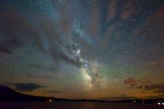 Milchstraße und Sterne Stockfotos