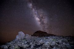 Milchstraße und Sterne Haleakala Stockbilder