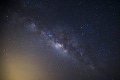 Milchstraßegalaxie mit Sternen und Raum wischen im Universum, lang ab Lizenzfreie Stockbilder