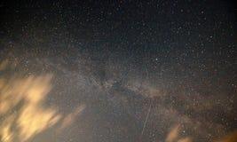 Milchstraßegalaxie von Holland, Afsluitdijk Stockfotografie