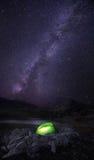 Milchstraßekampieren Stockbilder