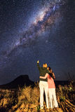Milchstraßeliebe lizenzfreie stockfotografie