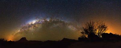 Milchstraßepanorama Madagaskar Stockbilder