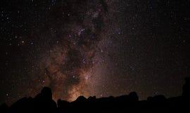 Milchstraßesteigen Stockfoto