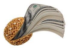 milczka złocista pieniądze skorupa Obrazy Royalty Free