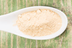 Mild curry. Powder on the spoon Royalty Free Stock Photo