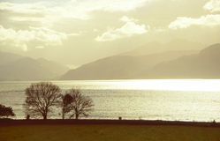 Mild evening light at the lake Royalty Free Stock Photography