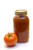 Mild Salsa. A mild homemade salsa shot on a white background Royalty Free Stock Image