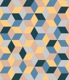 Mildes farbiges nahtloses Muster des Vektors mit Diamanten Lizenzfreie Abbildung