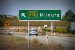Mildura Road Sign Stock Photos