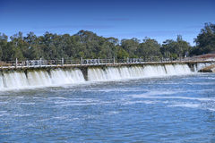 Mildura Weir Aerial View Royalty Free Stock Photography