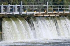 Mildura Weir Aerial View Stock Image