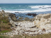 17-Mile Drive. Is a scenic road through Pebble Beach and Pacific Grove on the Monterey Peninsula in California, much of which hugs the Pacific coastline and Royalty Free Stock Photo
