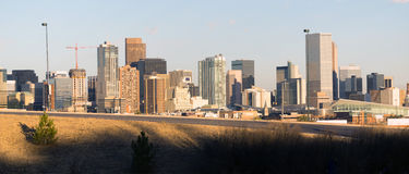 Mile High City Denver Colorado Downtown Skyline Royalty Free Stock Photography