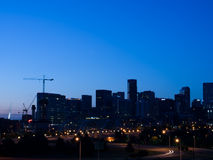 Mile High City of Denver by night Royalty Free Stock Photography