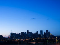 Mile High City of Denver by night Stock Image