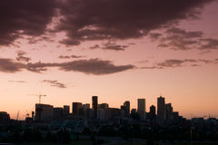 Mile High City of Denver by night Stock Images