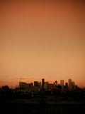 Mile High City of Denver by night Stock Photo