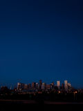 Mile High City of Denver by night Royalty Free Stock Image