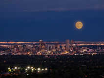 Mile High City of Denver by night royalty free stock photos