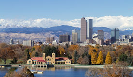 Mile High City Panorama Stock Images