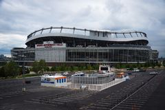 Mile High Stadium, Денвер, Колорадо стоковые фотографии rf
