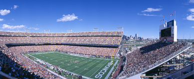Mile High Stadium, Broncos v. Rams Stock Photography