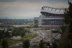 Mile High Stadium in Denver Colorado Fotografie Stock Libere da Diritti