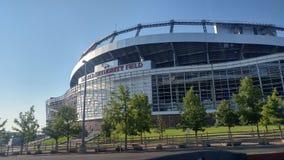 Mile High StadiumstolpeSuperbowl seger Arkivbilder