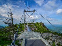 Mile high swinging bridge Stock Photo