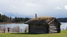 108 Mile House British Columbia, Canada. Highway 97 108 Mile House and Ranch Museum Log Building in British Columbia, Canada Photograph taken in April 2017 royalty free stock image