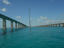 Mile long bridge. Bridge to the florida keys royalty free stock photography