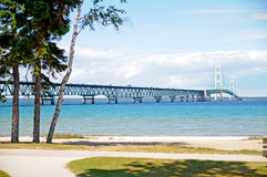 The 5 mile Mackinaw Bridge Stock Photography