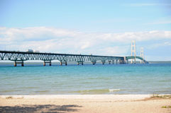 The 5 mile Mackinaw Bridge. Image of the 5 mile Mackinaw bridge Royalty Free Stock Photos