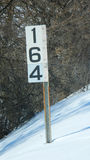 Mile Marker Stock Image