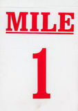 Mile Marker Sign Royalty Free Stock Photos