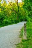 Towpath trail mile marker Royalty Free Stock Photos