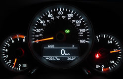 Mile meter in car Stock Images