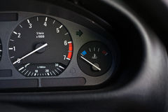 Mile meter console car Stock Photography