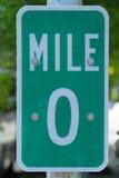 Mile nolla undertecknar i Key West, Florida, USA Arkivfoton